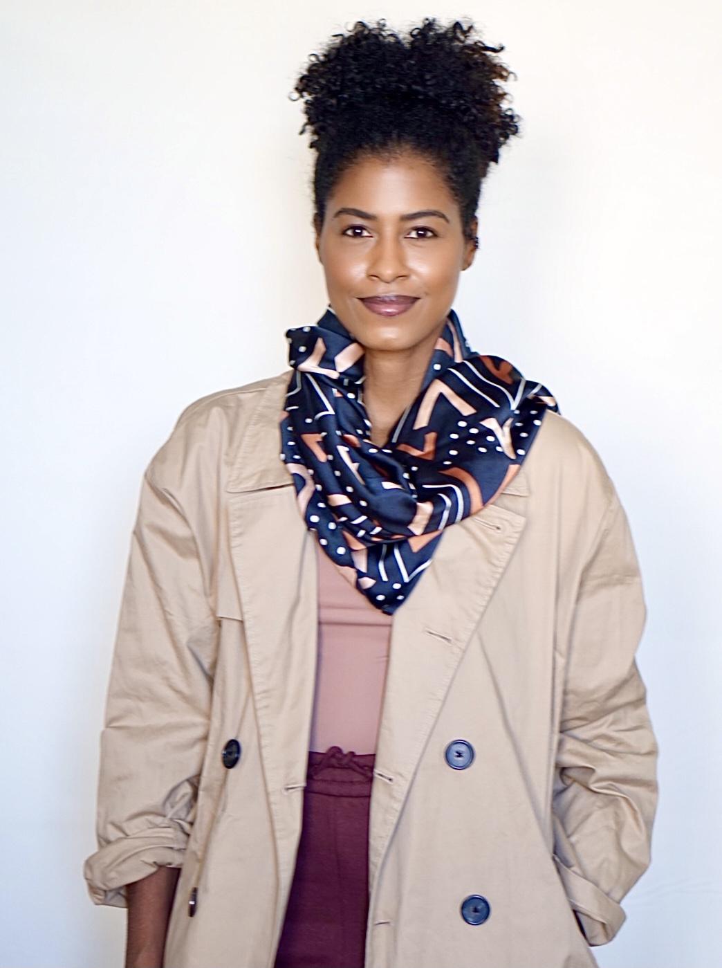 Ethnic Brown Silk