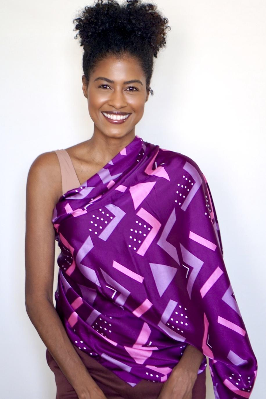 Ethnic Purple Silk